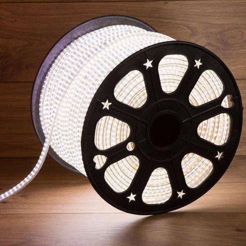 Лента светодиодная SMD3014 6.5x15мм 240LED/м 220В IP67 бел. (уп.100м) Neon-Night 142-803
