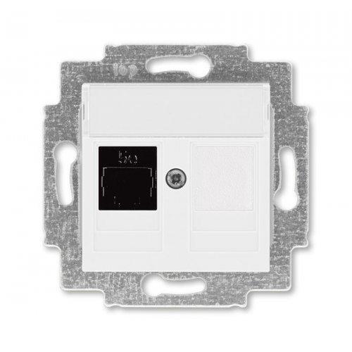Розетка информационная Levit RJ45 кат. 5e и заглушка бел. ABB 2CHH295117A6003