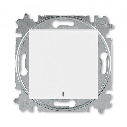 Выключатель 1-кл. Levit с подсветкой бел./ледяной ABB 2CHH590146A6001