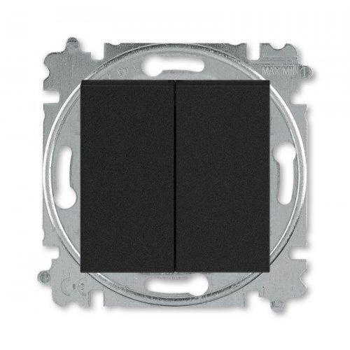 Выключатель 2-кл. Levit антрацит/дым. черн. ABB 2CHH590545A6063
