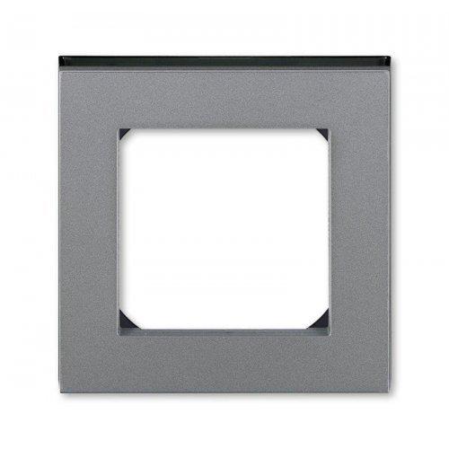Рамка Levit 1п сталь/дым. черн. ABB 2CHH015010A6069