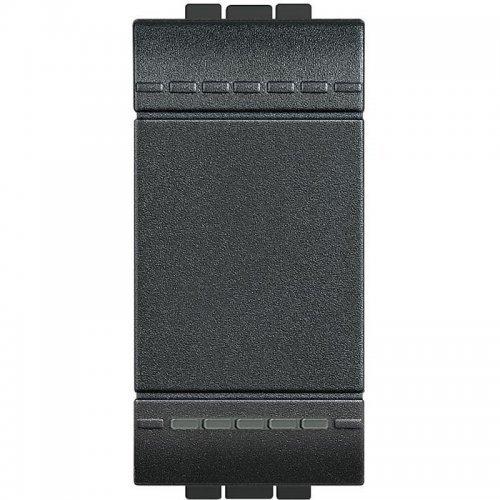 Выключатель 1-кл. 1мод. СП 16А IP20 LivingLight винт. клеммы размер антрацит Leg BTC L4001N