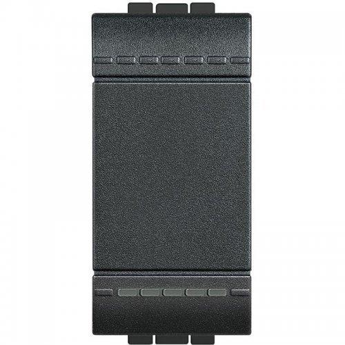 Выключатель 1-кл. 1мод. СП 16А IP20 LivingLight с авт. клеммы размер антрацит Leg BTC L4001A