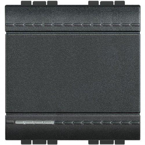 Кнопка с авт. клем. размер 2мод. LivingLight антрацит Leg BTC L4005M2A