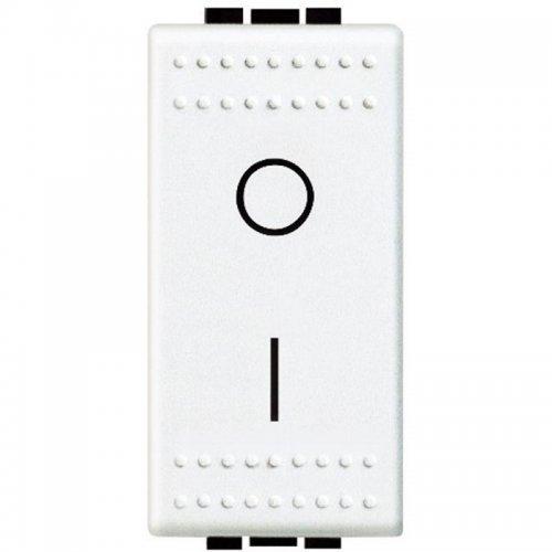 Выключатель 1-кл. 2п 1мод. СП 16А IP20 16AX LivingLight бел. Leg BTC N4002N