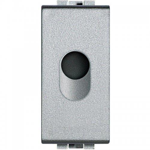Заглушка 1 мод. LivingLight с отверст. 9мм для ввода кабеля алюм. Leg BTC NT4953