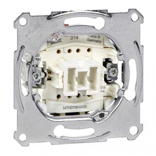 Механизм переключателя 1-кл. СП Merten безвинт. зажим. 10А SchE MTN3116-0000