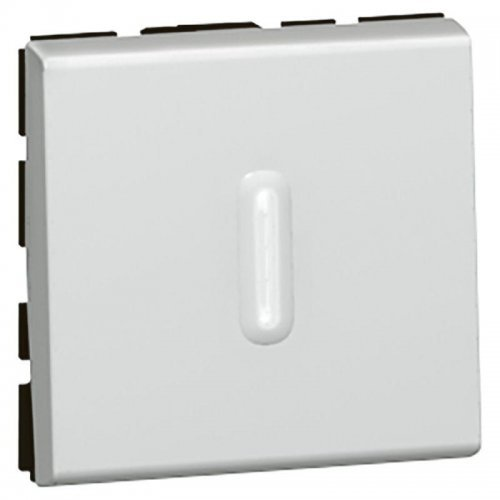 Выключатель кнопочный СП 2мод. 6А с подсветкой Mosaic алюм. Leg 079242