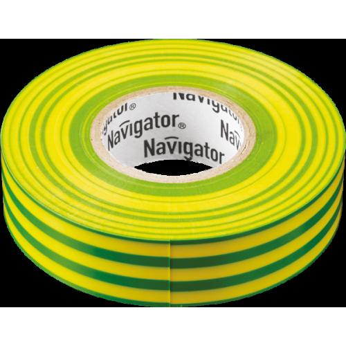 Изолента Navigator 71 115 NIT-A19-20/YG жёлто-зелёная