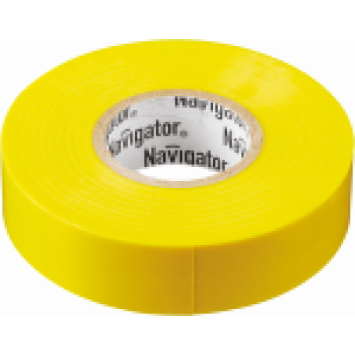 Изолента Navigator 71 105 NIT-B15-20/Y жёлтая