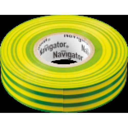 Изолента Navigator 71 108 NIT-B15-20/YG жёлто-зелёная