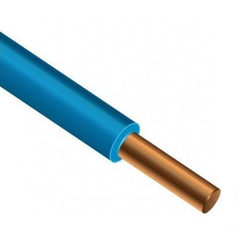 Провод силовой ПуВ 1х10 голубой бухта однопроволочный