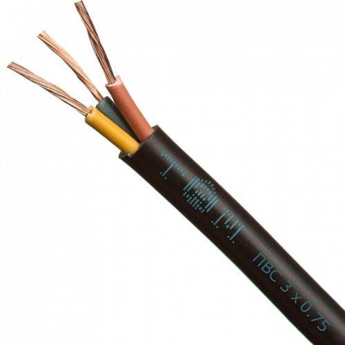 Провод ПВСнг(А)-LS 3х1.5 чёрный