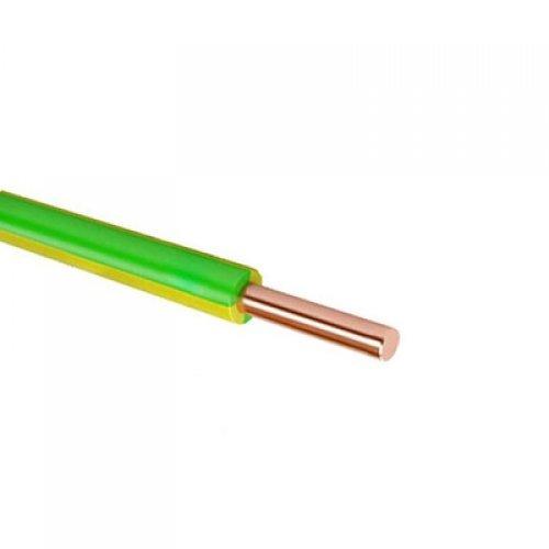 Провод силовой ПуВ 1х6 желто-зеленый бухта однопроволочный
