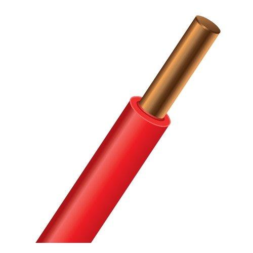 Провод силовой ПУВ 1х2.5 красный однопроволочный