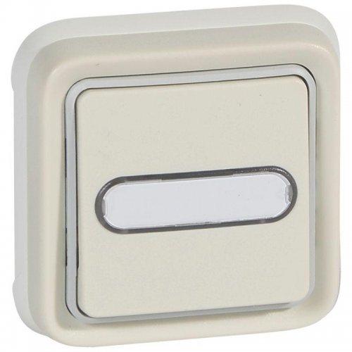 Выключатель кнопочный СП PLEXO 10А НО+НЗ с держ. этикетки бел. Leg 069864