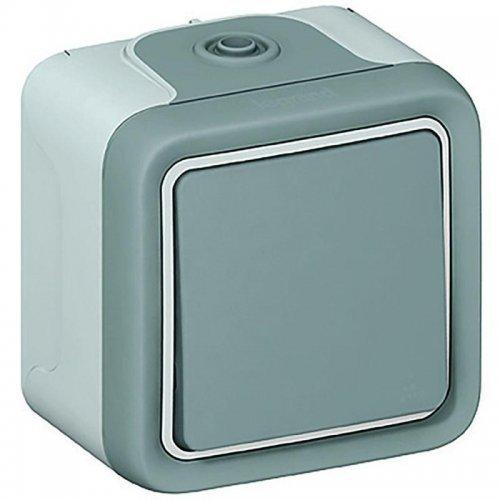 Выключатель кнопочный 1-кл. ОП PLEXO IP55 10А сер. Leg 069720