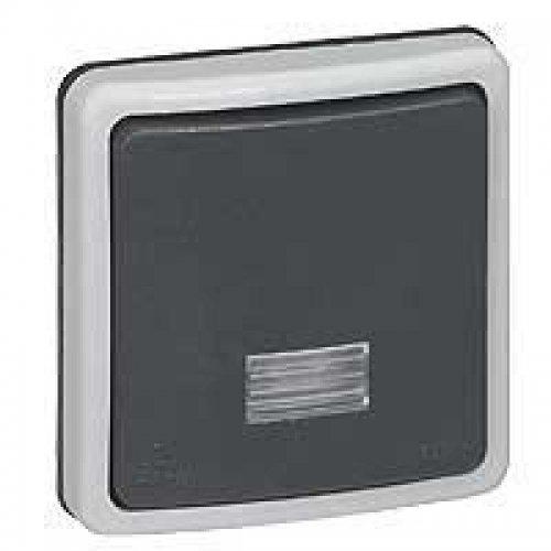 Выключатель кнопочный СП PLEXO с подсветкой 10А IP66 Leg 090482