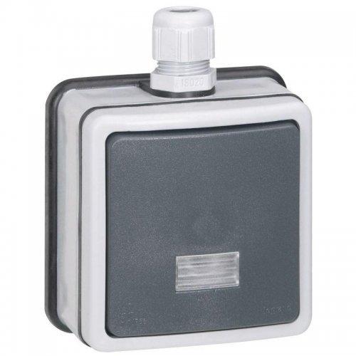 Выключатель кнопочный СП PLEXO с подсветкой 6А IP66 Leg 090462