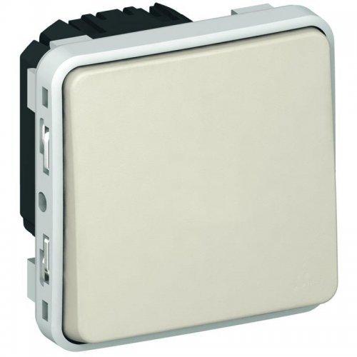 Механизм выключателя кноп. СП Plexo 10А 1НО IP55 бел. Leg 069630