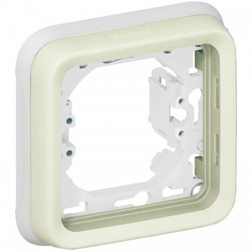 Рамка 1-м Plexo с суппортом бел. Leg 069692