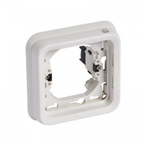 Рамка 1-м Plexo с суппортом для скр. монтажа с грифами антибакт. IP55 бел. Leg 070793