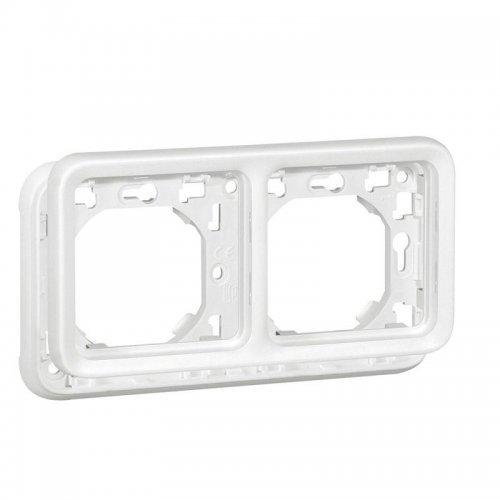 Рамка 2-м Plexo горизонт. с суппортом для скрыт. монтажа антибакт. IP55 бел. Leg 070794