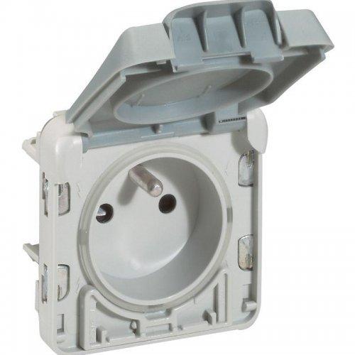 Розетка СП Plexo 2К+3 франц. станд. авт. защ. крышка Leg 069555