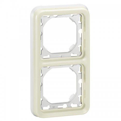 Рамка 2-м Plexo с суппортом верт. IP55 бел. Leg 069696