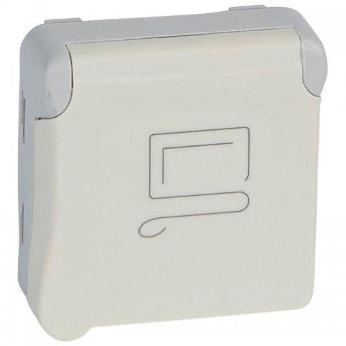 Розетка СП Plexo 2К+3 франц. станд. винт. клеммы с блок. бел. Leg 069623