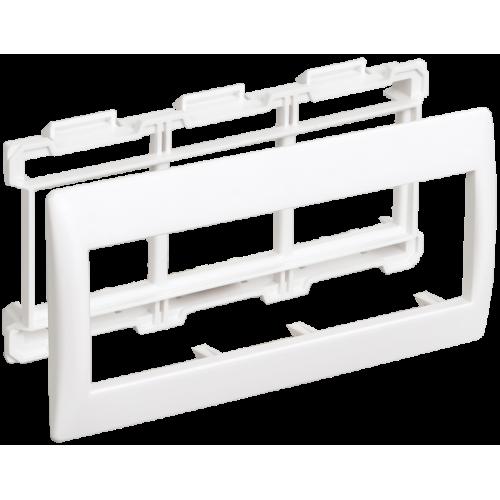 Рамка 6мод. Праймер с суппортом 60мм бел. ИЭК CKK-40D-RSU6-060-K01
