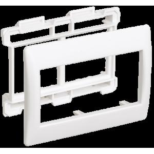 Рамка и суппорт для кабель-канала на 4 модуля 60ммПраймер