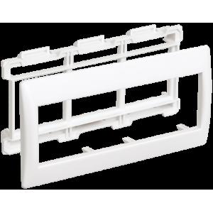 Рамка и суппорт для кабель-канала на 6 модулей 75мм Праймер