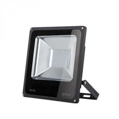 Прожектор LED 50Вт IP65 6500К черн. GAUSS 613100350