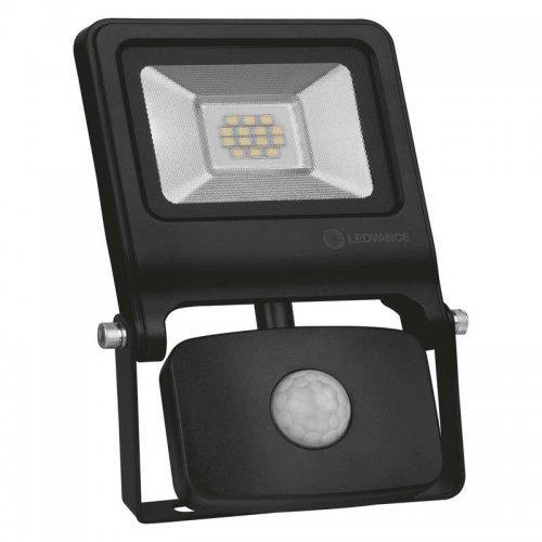 Прожектор светодиодный FLOODLIGHT VALUE SENSOR 10Вт 4000К IP44 с датчиком черн. BK LEDVANCE 4058075268685