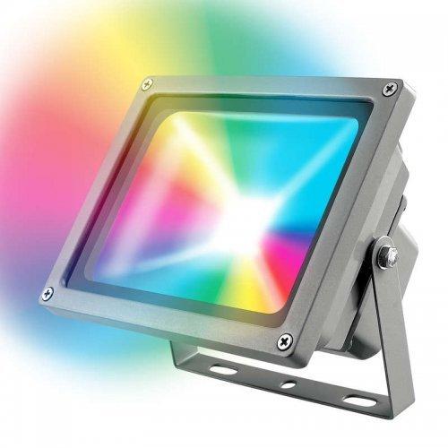 Прожектор светодиод. UULF-S01-30Вт/RGB/RC IP65 110-240В картон Uniel UL-00001034