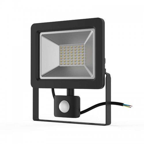 Прожектор светодиодный Elementary 50Вт 3500лм IP65 6500К с датчиком движения Gauss 628511350