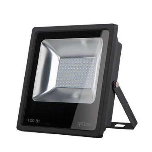 Прожектор светодиодный LED 100Вт IP65 6500К черн. Gauss 613100100