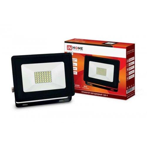 Прожектор светодиодный СДО-8 30Вт 230В 6500К 2850лм IP65 IN HOME 4690612030036