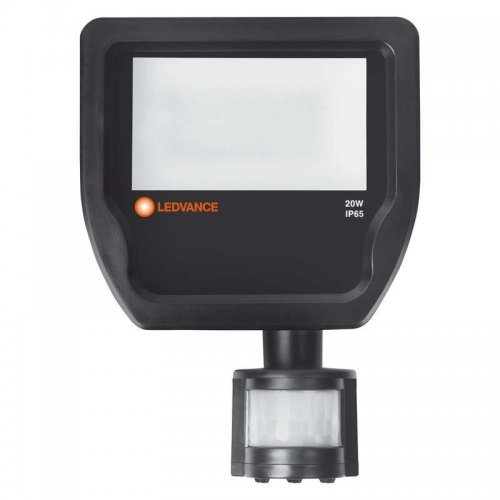Прожектор светодиодный FLOODLIGHT SENSOR ДО 20Вт FLOOD 3000К 2000Лм IP65 c датчиком черн. LEDVANCE 4058075143531
