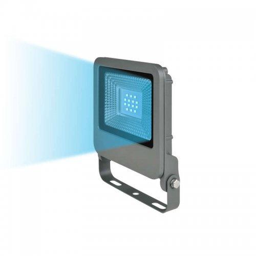 Прожектор светодиодный ULF-F17-10W/BLUE IP65 195-240В SILVER син. свет корпус серебр. Uniel UL-00002073