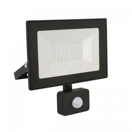 Прожектор светодиодный с датчиком LFL-3002S C02 30Вт 230В 6500К черн. Ultraflash 13330