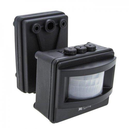 Датчик движения (ИК) MS-01 (ДД) на прожектор 1200Вт 120град. до 12м IP44 черн. EKF dd-ms-01-b