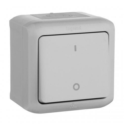 Выключатель 1-кл. 2п ОП Quteo 10А IP44 10АХ сер. Leg 782339