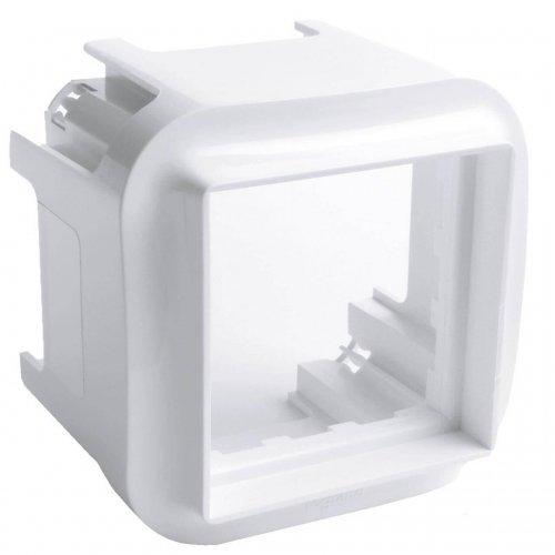 Блок установки 1-м СП пустой для механизмов серии Mosaic 45х45 бел. Leg 782225