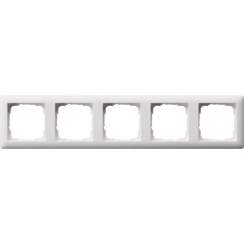 Рамка 5-постовая Gira Standard 55 чисто-белый шелковисто-матовый 021504