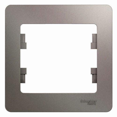 Рамка 1-м Glossa платина SchE GSL001201