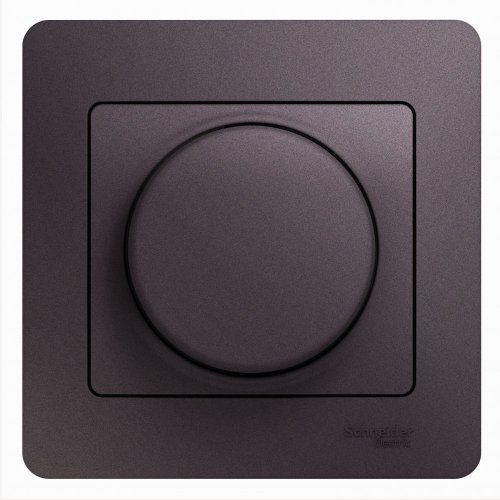 Светорегулятор (диммер) Glossa поворотный 300Вт в сборе сиреневый туман SchE GSL001434