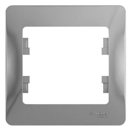 GLOSSA Рамка 1 пост алюминий