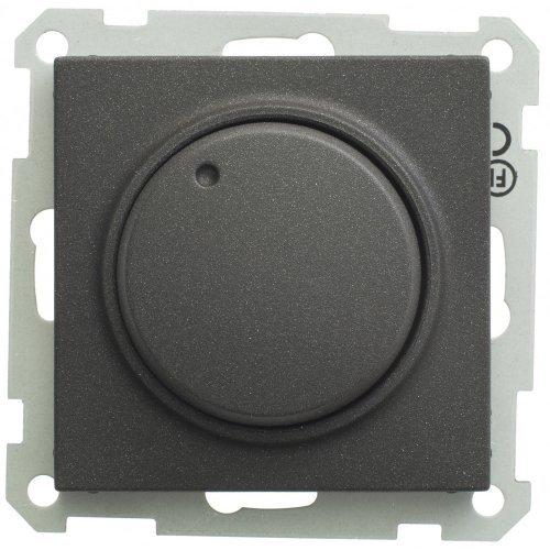 Механизм светорегулятора СП W59 поворот. 300Вт черн. барх. SchE SR-5S0-6-86